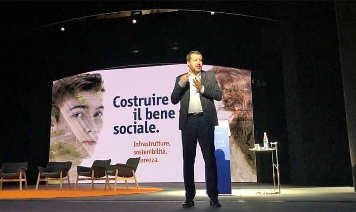 Codice Appalti, Salvini all'Ance: 'entro novembre sarà smontato e riscritto'