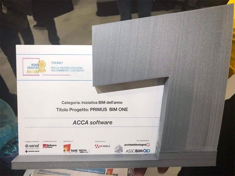 PriMus BIM ONE premiato come 'Iniziativa BIM dell'anno'
