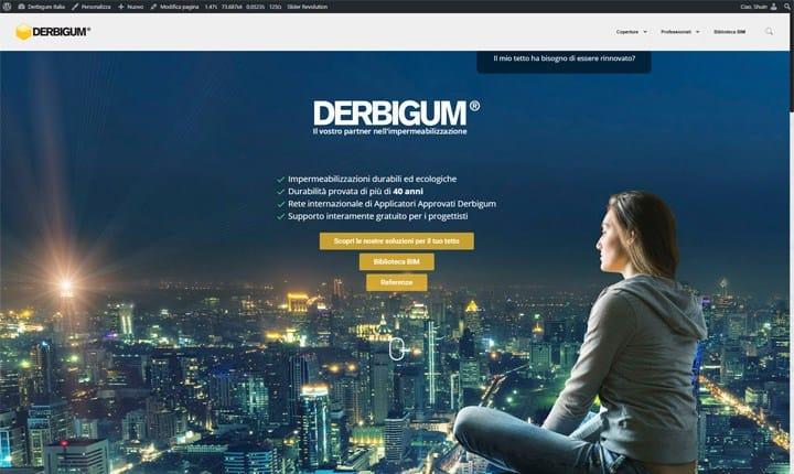 Nuovo sito per DERBIGUM