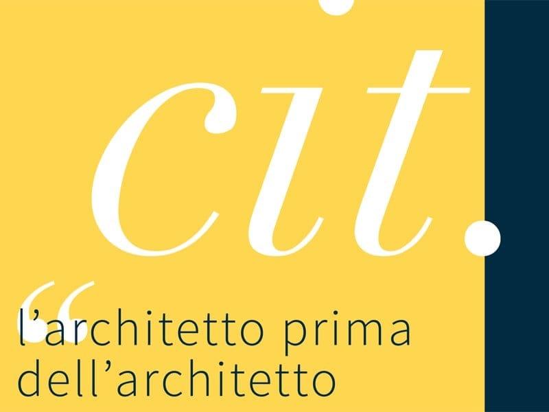 cit. - l'architetto prima dell'architetto