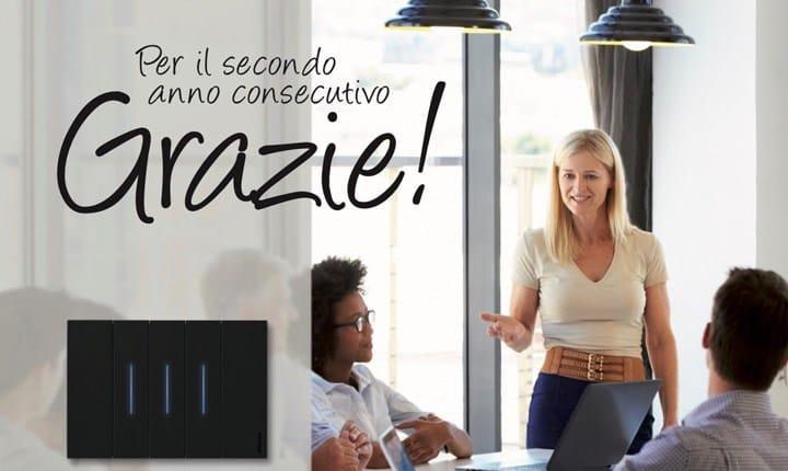 BTicino prima tra 'Le aziende in cui si lavora meglio in Italia 2018'