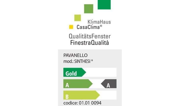 Sinthesi® riceve l'esclusivo certificato KlimaHaus