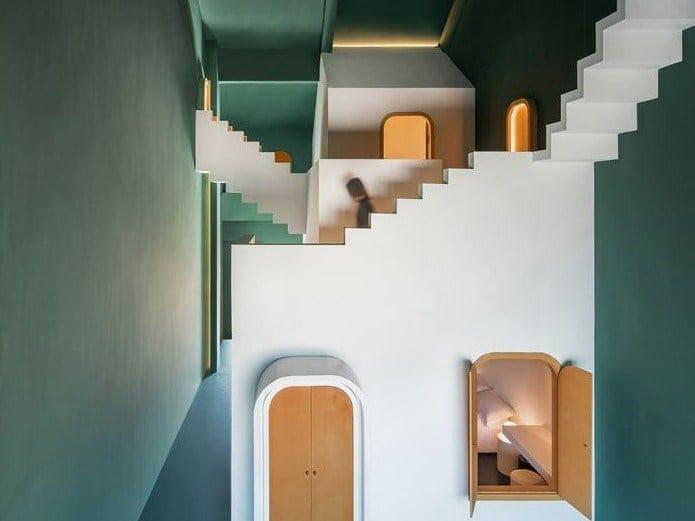 Le composizioni di Escher prendono vita in un hotel