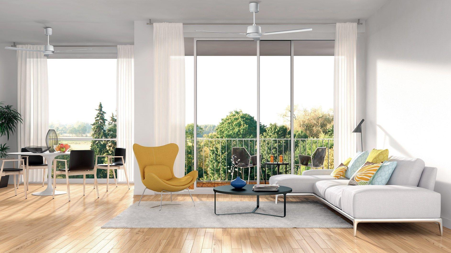 I ventilatori a soffitto a risparmio energetico NORDIK ECO