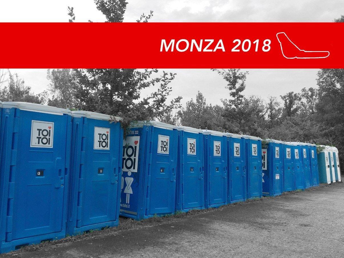 Anche quest'anno TOI TOI al Gran Premio d'Italia
