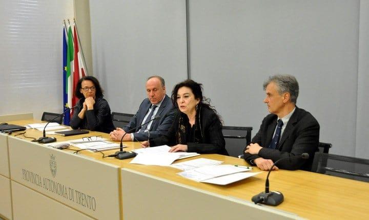 Nella foto da sinistra: Serafini, Tonina, Viviani, Tomazzoni. Fonte: INU