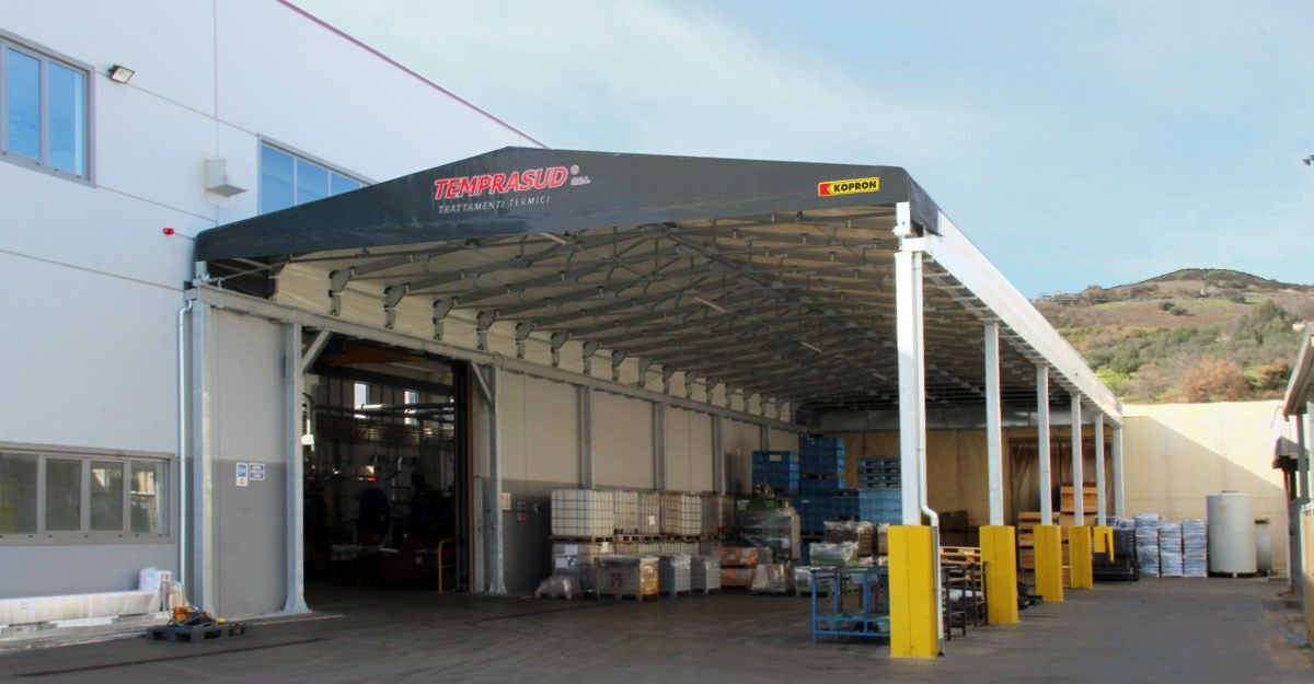 Temprasud cresce con i capannoni industriali in acciaio Kopron