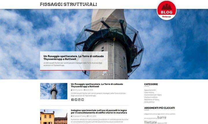 Nasce www.fissaggistrutturali.it, il blog di fischer dedicato ai progettisti