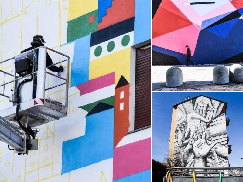 Tre street artist all'opera per Collegno Si-cura