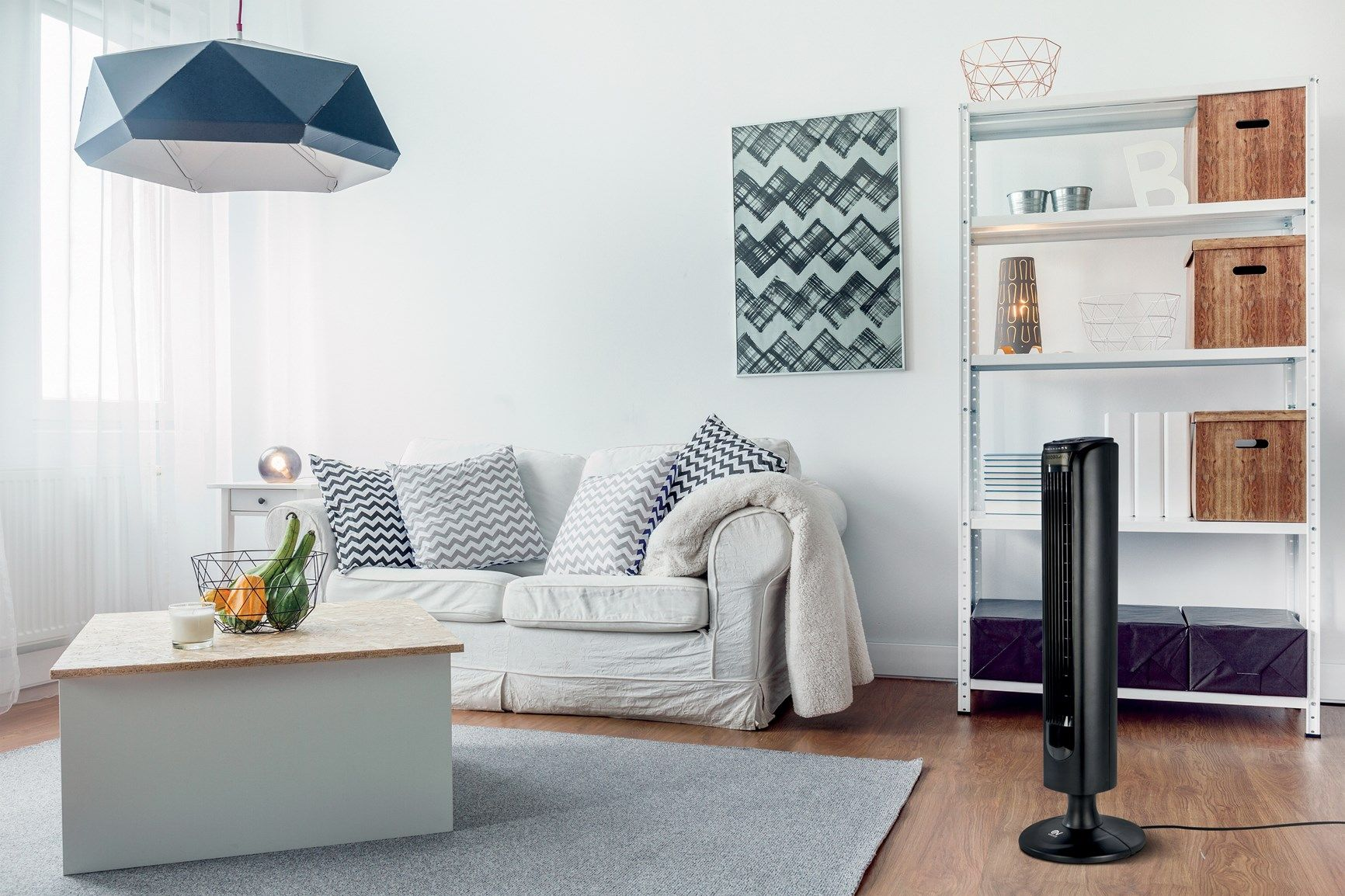Ridotti ingombri e praticità di utilizzo con il ventilatore ARIANTE TOWER