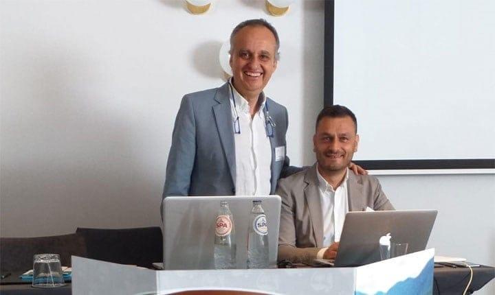 Il coordinatore del progetto Fabio Terribile (in piedi)