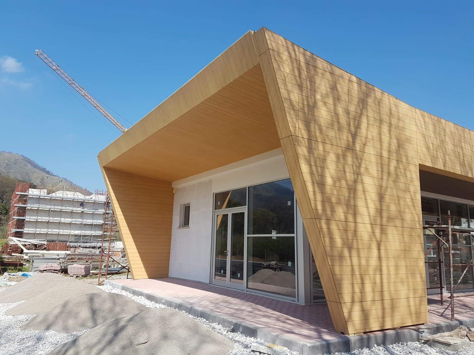 Rockwool, wood texture per uffici moderni
