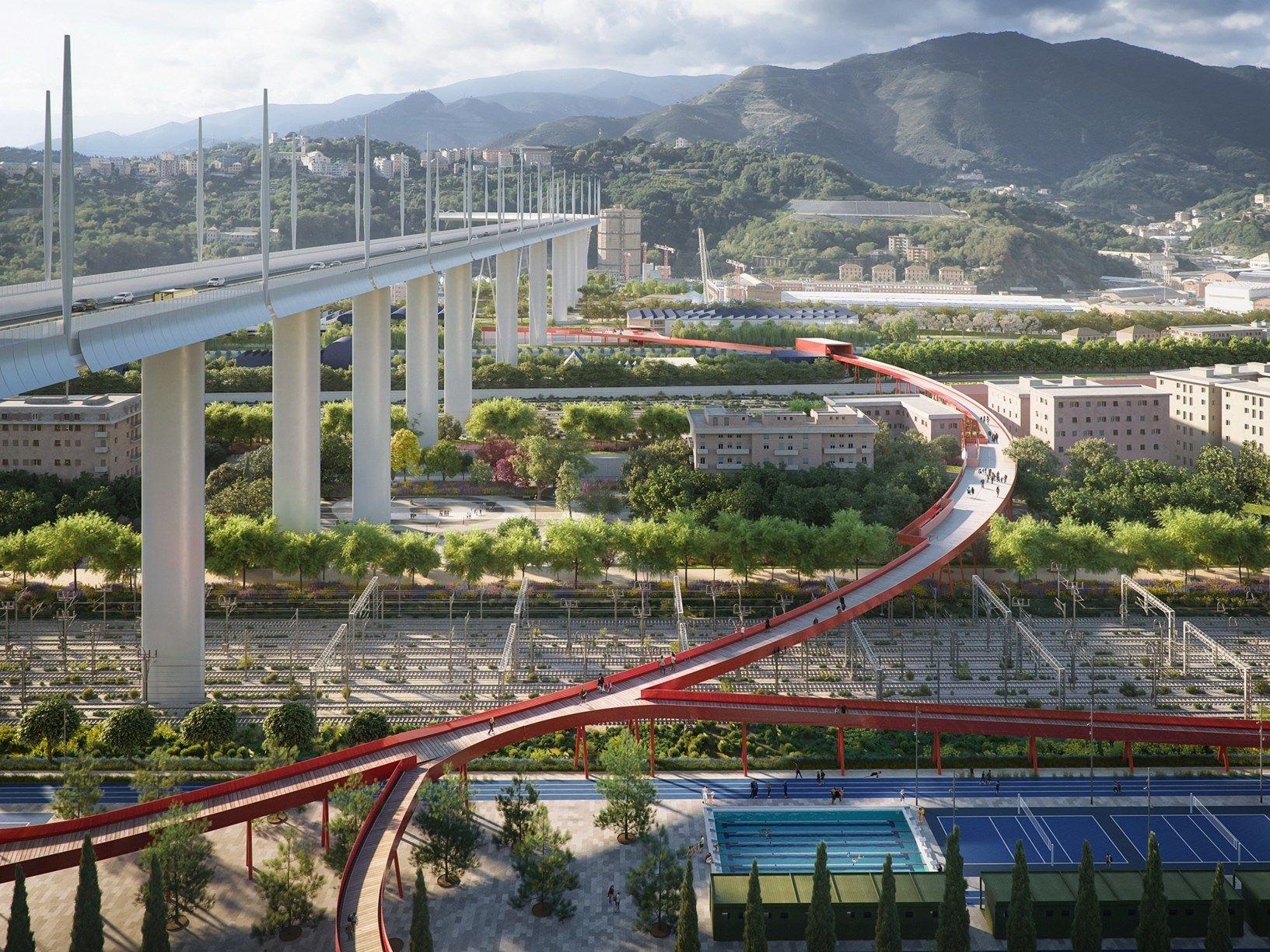 Il Parco del Ponte a Genova: il progetto vincitore