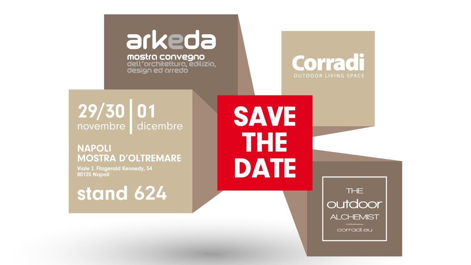Corradi è ad Arkeda: l'outdoor design protagonista a Napoli