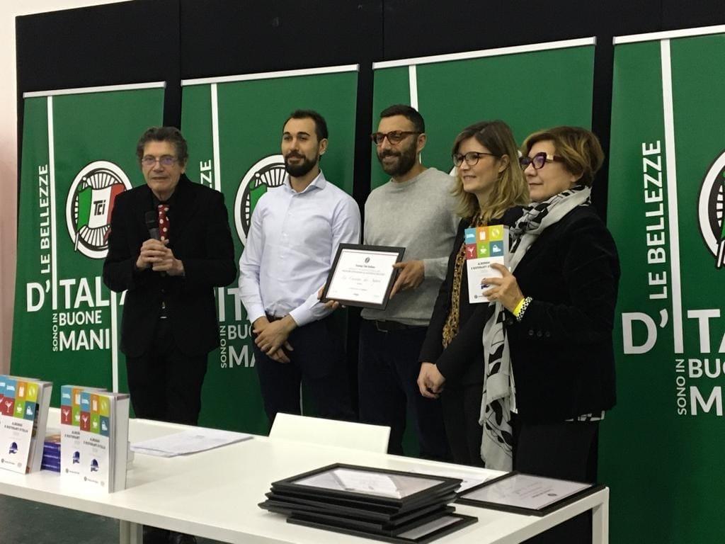 """Alla pizzeria Cascina dei Sapori di Rezzato (BS)  il premio Isolspace """"Migliore acustica con stile"""""""