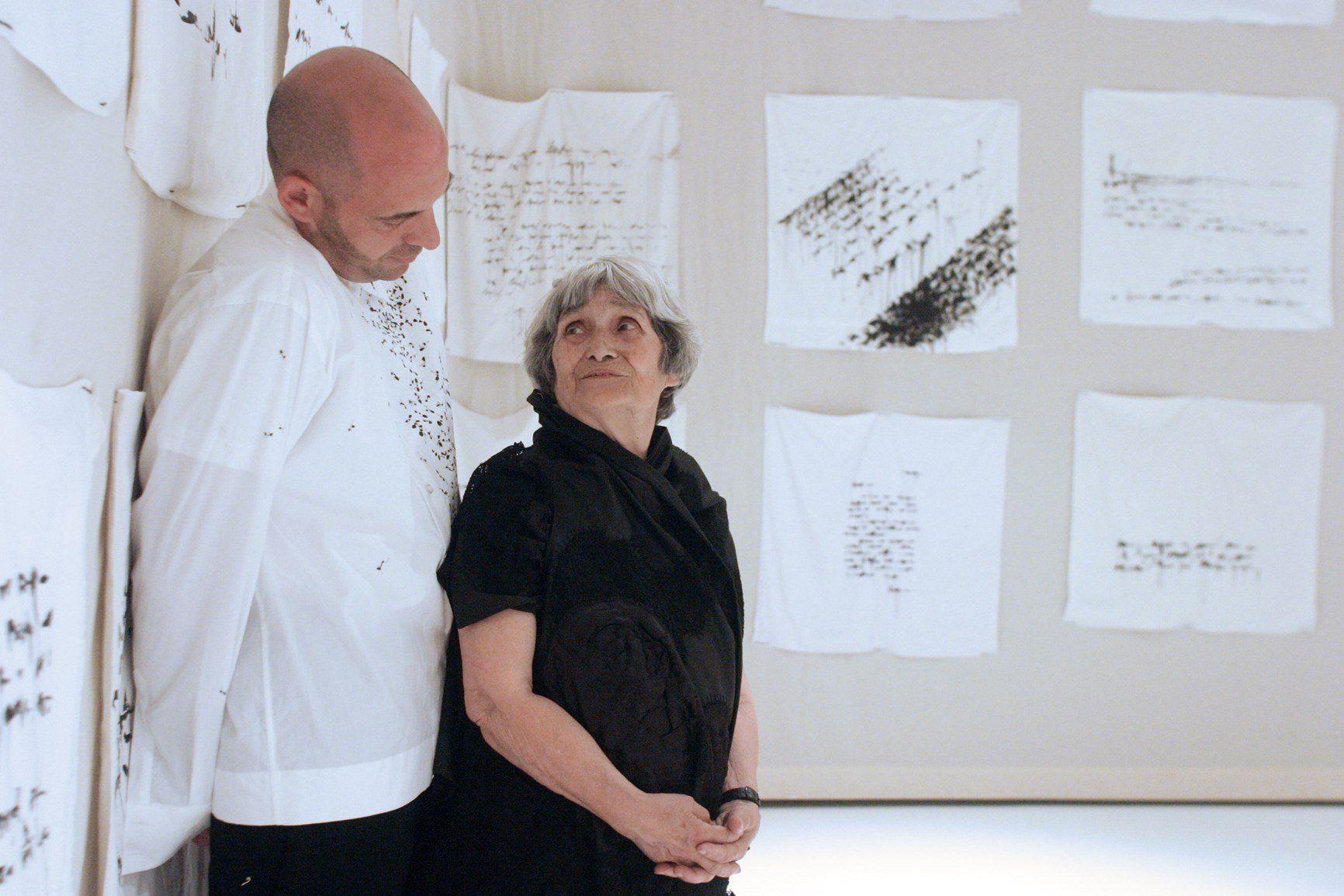 Maria Lai e Antonio Marras Alghero 2003 ©daniela zedda