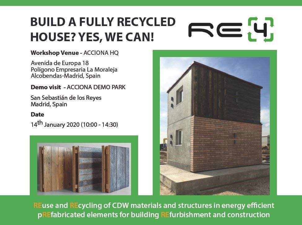 RE4 Final Workshop 'Build a fully recycled house? Yes, We can!'