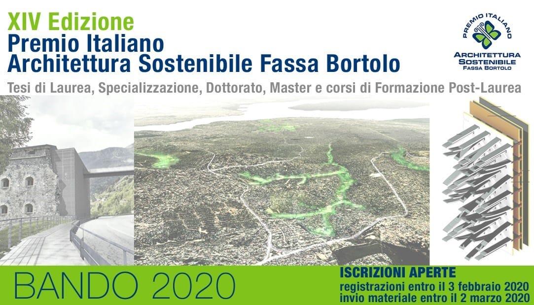 Premio Italiano Architettura Sostenibile Fassa Bortolo 2020
