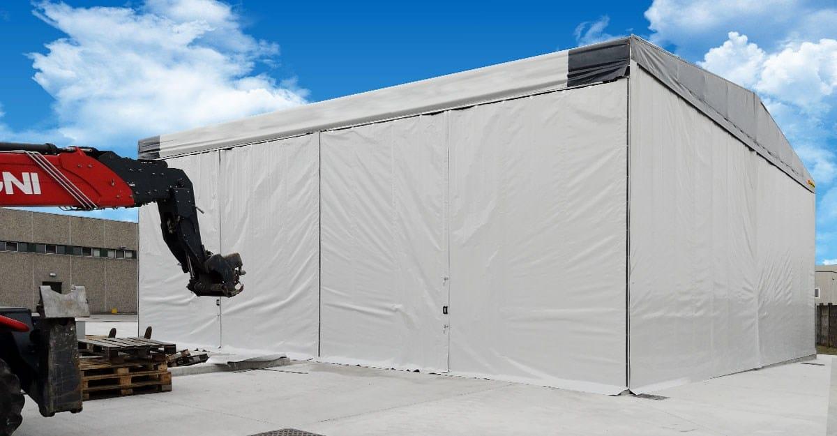 Kopron: istruzioni e fasi per l'installazione di un capannone mobile in pvc