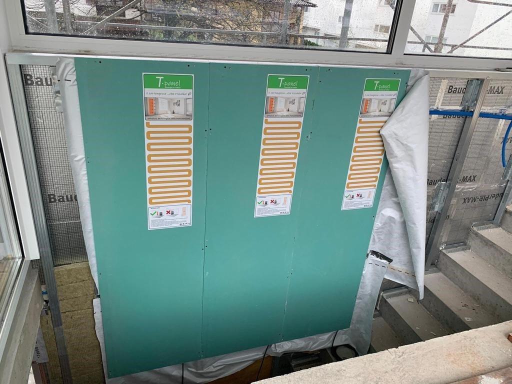 STS Polistiroli ha presentato T-panel, il cartongesso che riscalda