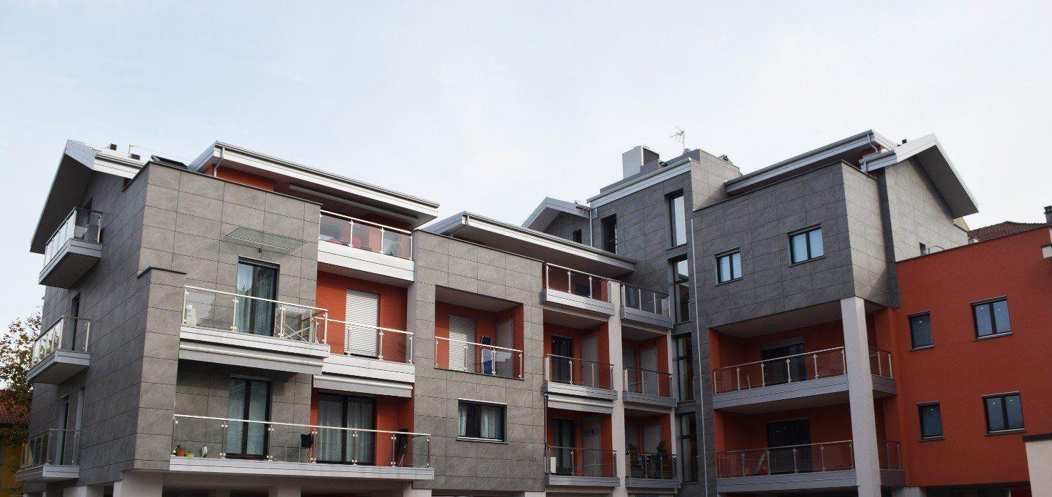 Protezione termica dell'intero involucro per le nuove residenze di Pinerolo in Classe A
