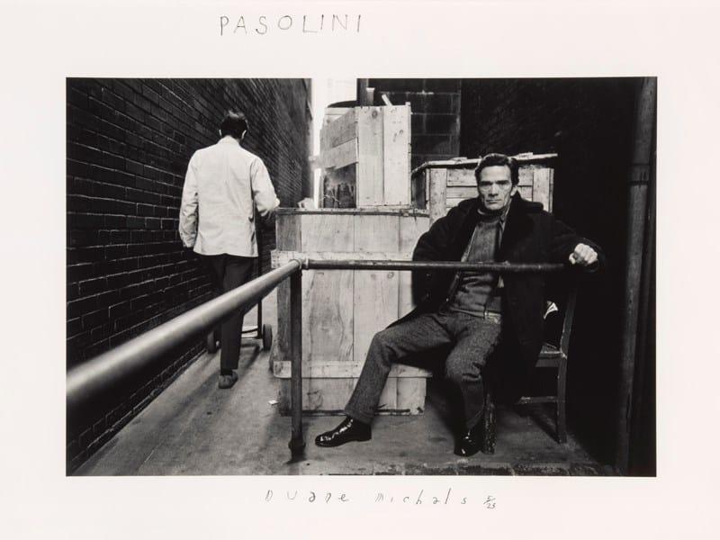 Duane Michals, Pasolini, 1969 ©Duane Michals - Courtesy Admira, Milano
