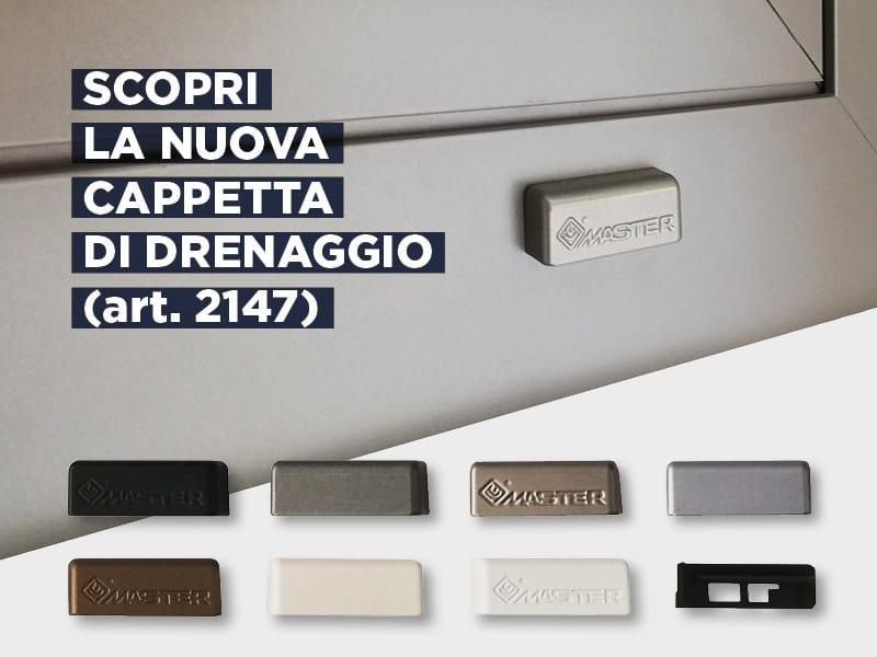 Colorate e personalizzabili le nuove cappette di drenaggio Master Italy