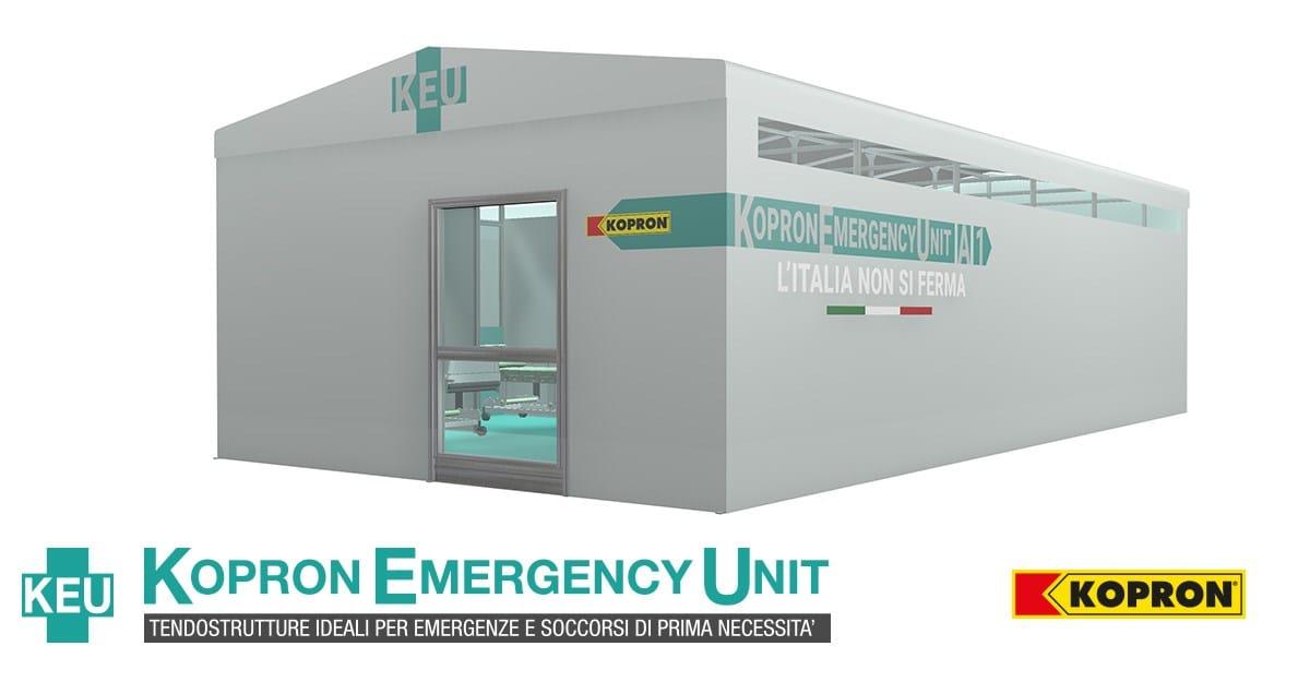 Le tendostrutture Kopron per le emergenze e soccorsi di prima necessità
