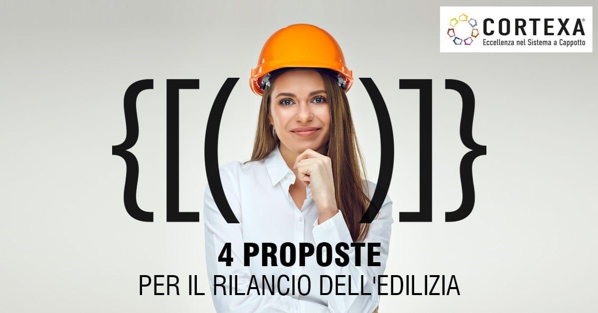 Le 4 proposte di Cortexa per rilanciare il settore edile