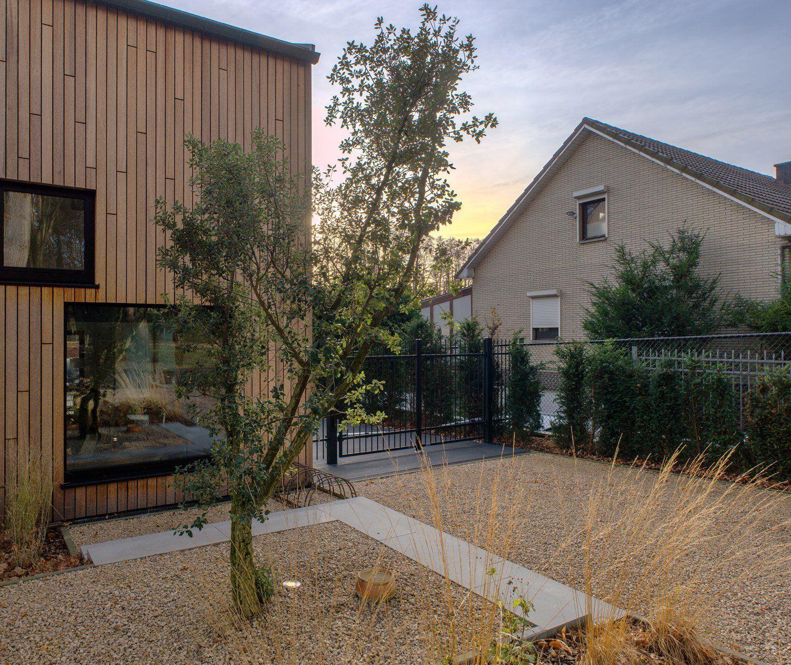 Elementi tecnologici e materiali sostenibili definiscono un progetto residenziale in Belgio