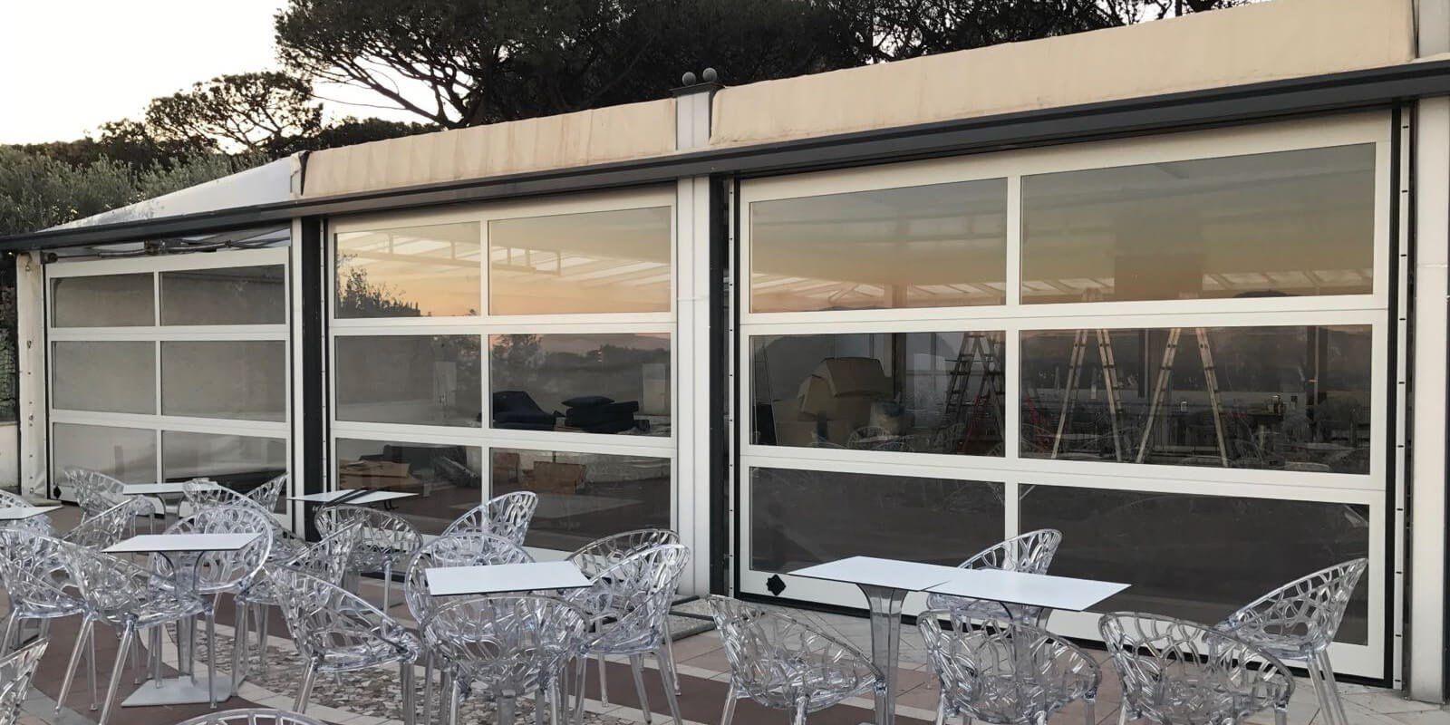 Portoni sezionali Breda, luce, aria e outdoor per spazi super smart