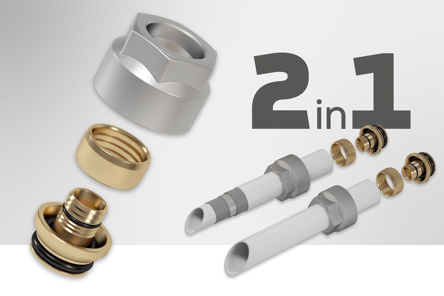 IVAR presenta la nuova gamma di raccordi a stringere: 1 unico raccordo per 2 tipologie di tubi