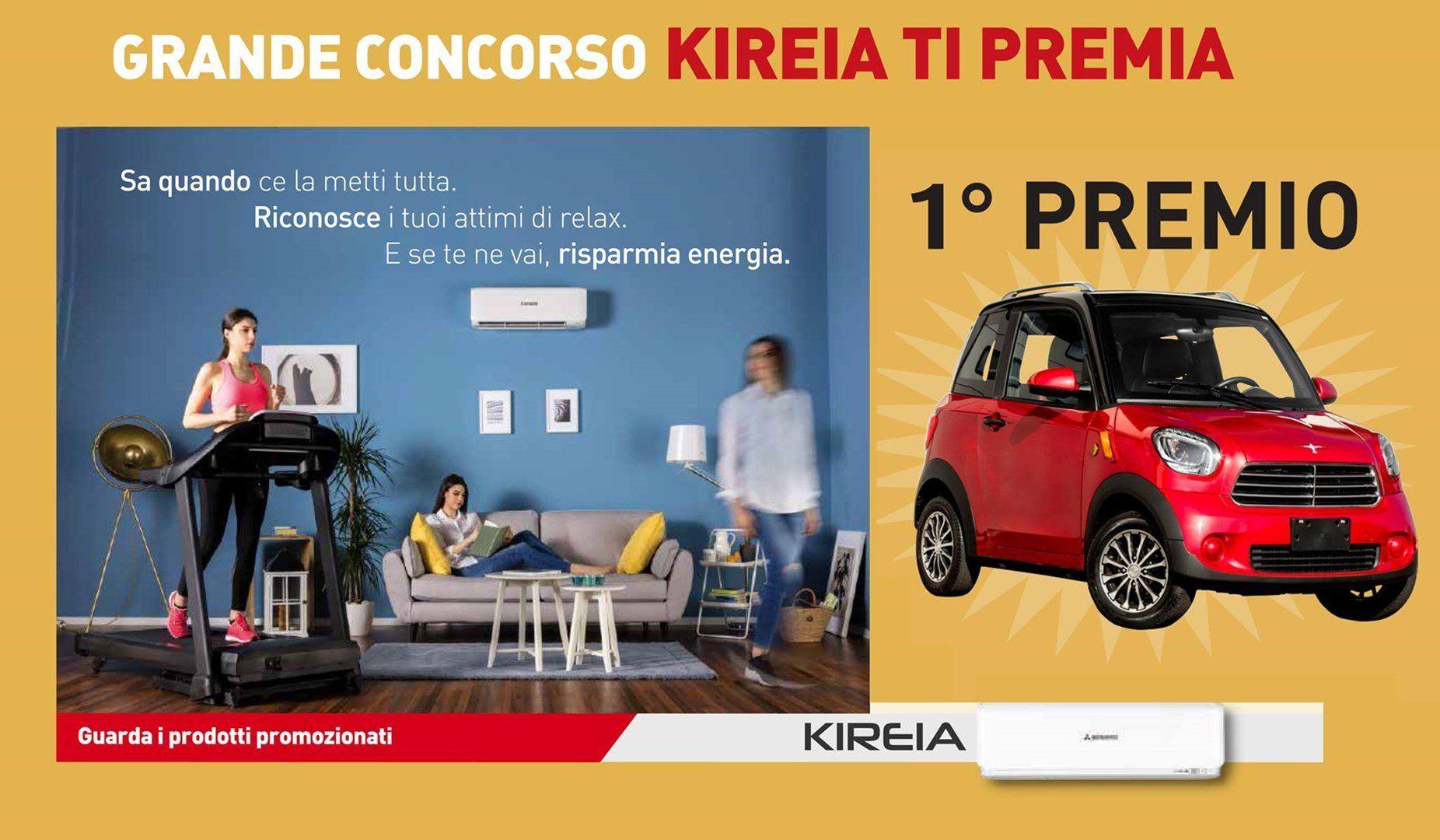 Grande Concorso KIREIA ti premia: 1° premio in palio una minicar elettrica