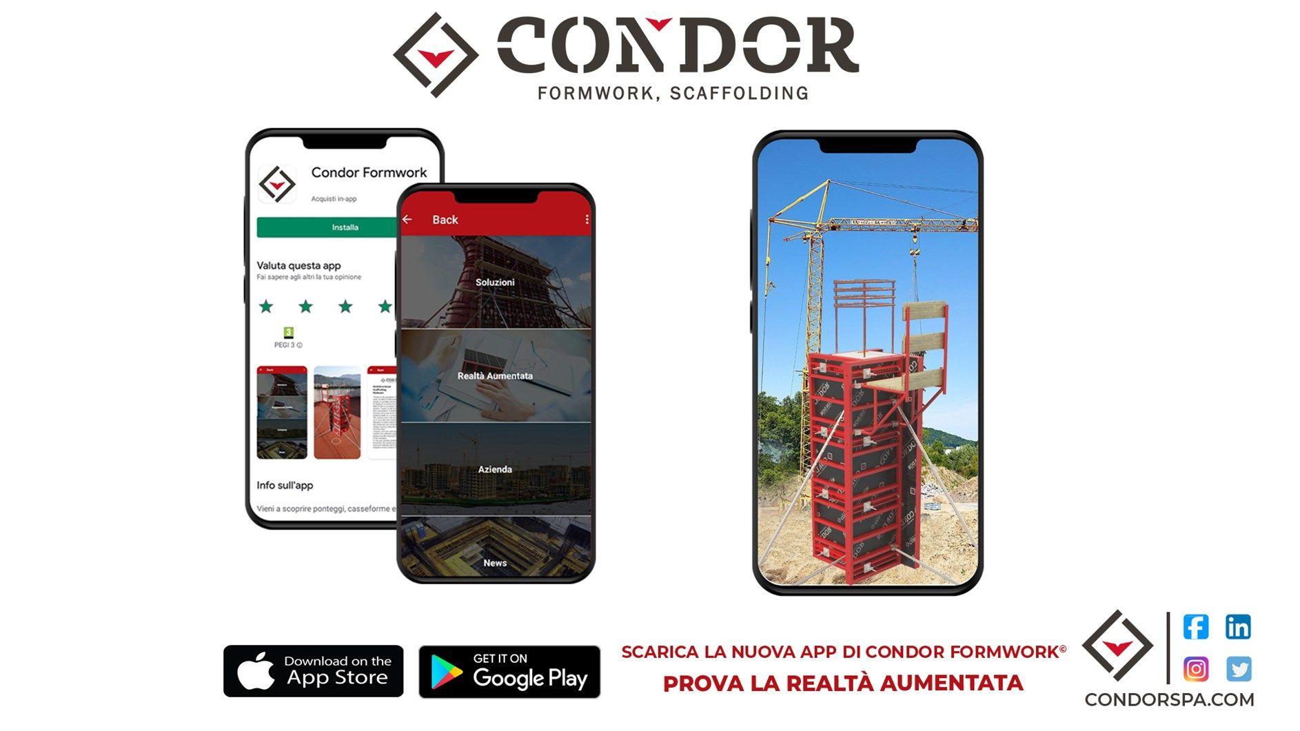 Casseforme e Ponteggi in AR: Condor presenta la sua nuova App