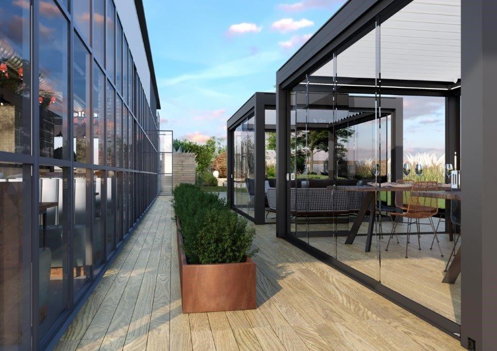 KE presenta il nuovo sistema di chiusura a vetrate scorrevoli LINE GLASS