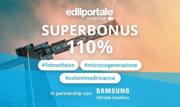 Superbonus 110%, nuovo webinar di Edilportale