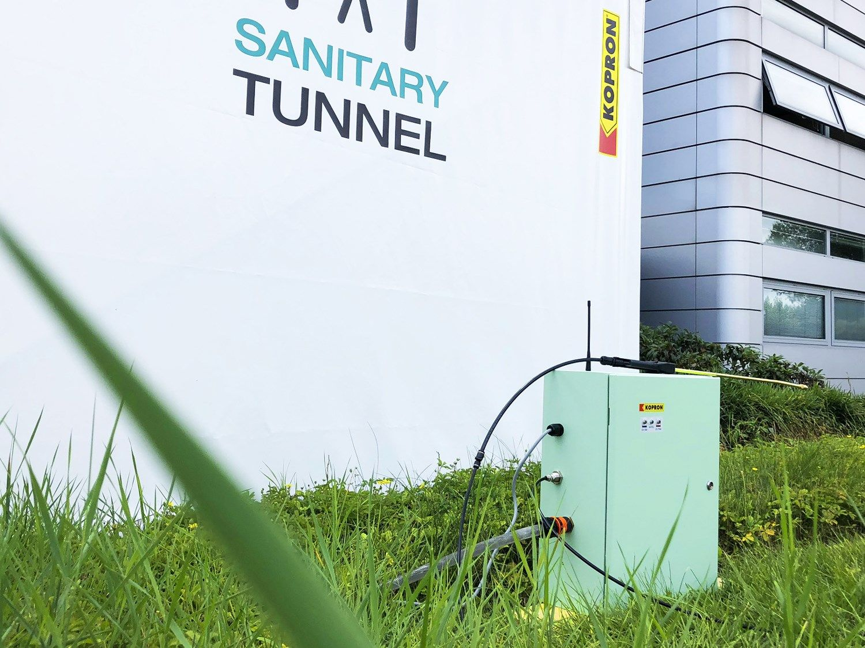 Kopron Sanitary Tunnel, il 1° tunnel in pvc di sanificazione per persone ed oggetti