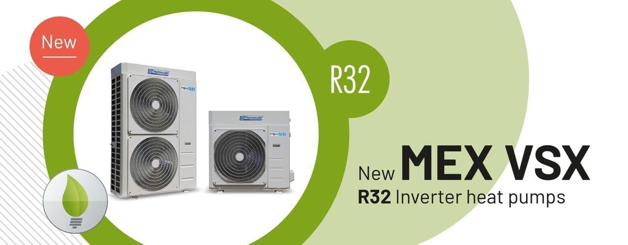 Thermocold presenta le nuove pompe di calore inverter MEX VSX ad R32