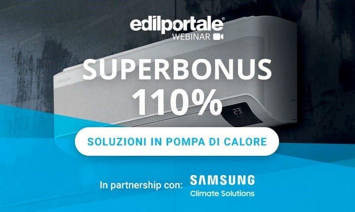 Superbonus 110%, gli impianti in pompa di calore al centro del nuovo webinar Edilportale