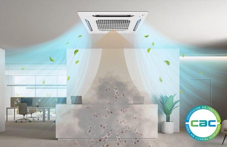 Ambienti più sani e confortevoli grazie alle cassette LG con innovativa funzione di purificazione dell'aria