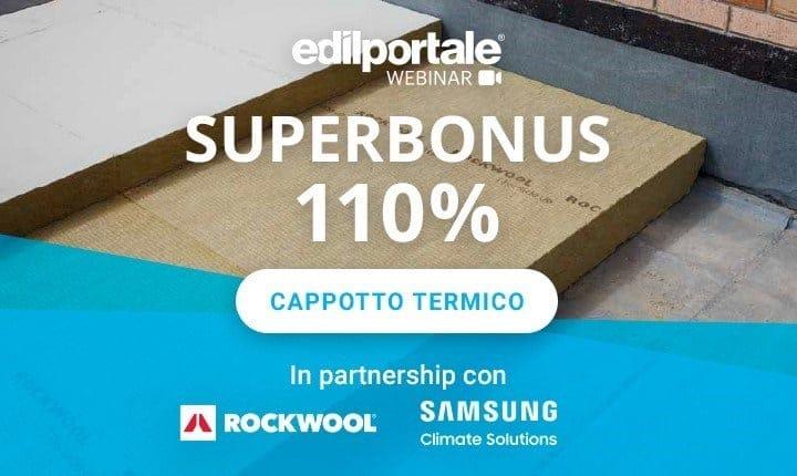 Superbonus 110% per il cappotto termico, nuovo webinar di Edilportale