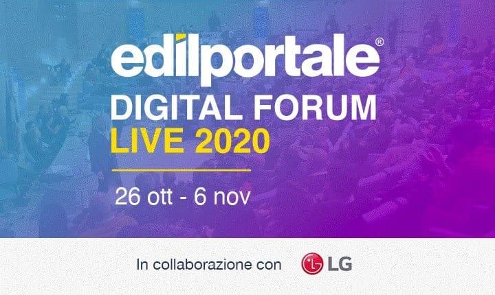 Edilportale Digital Forum, al via il primo Summit online della Filiera delle Costruzioni