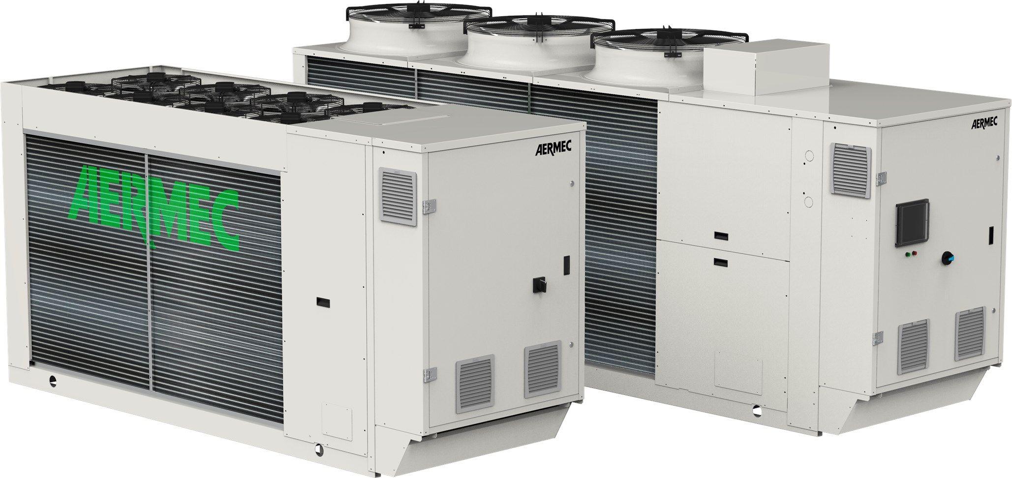 Aermec presenta la nuova serie NRG e NRGI con refrigerante R32