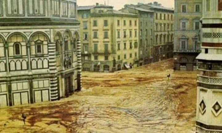 Alluvione di Firenze, 4 novembre 1966. Foto tratta dal Rapporto ReNDiS