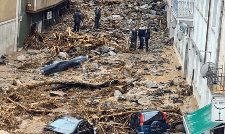 Alluvione di Bitti (NU) del 28 novembre 2020. Foto: facebook.com/comunebitzi