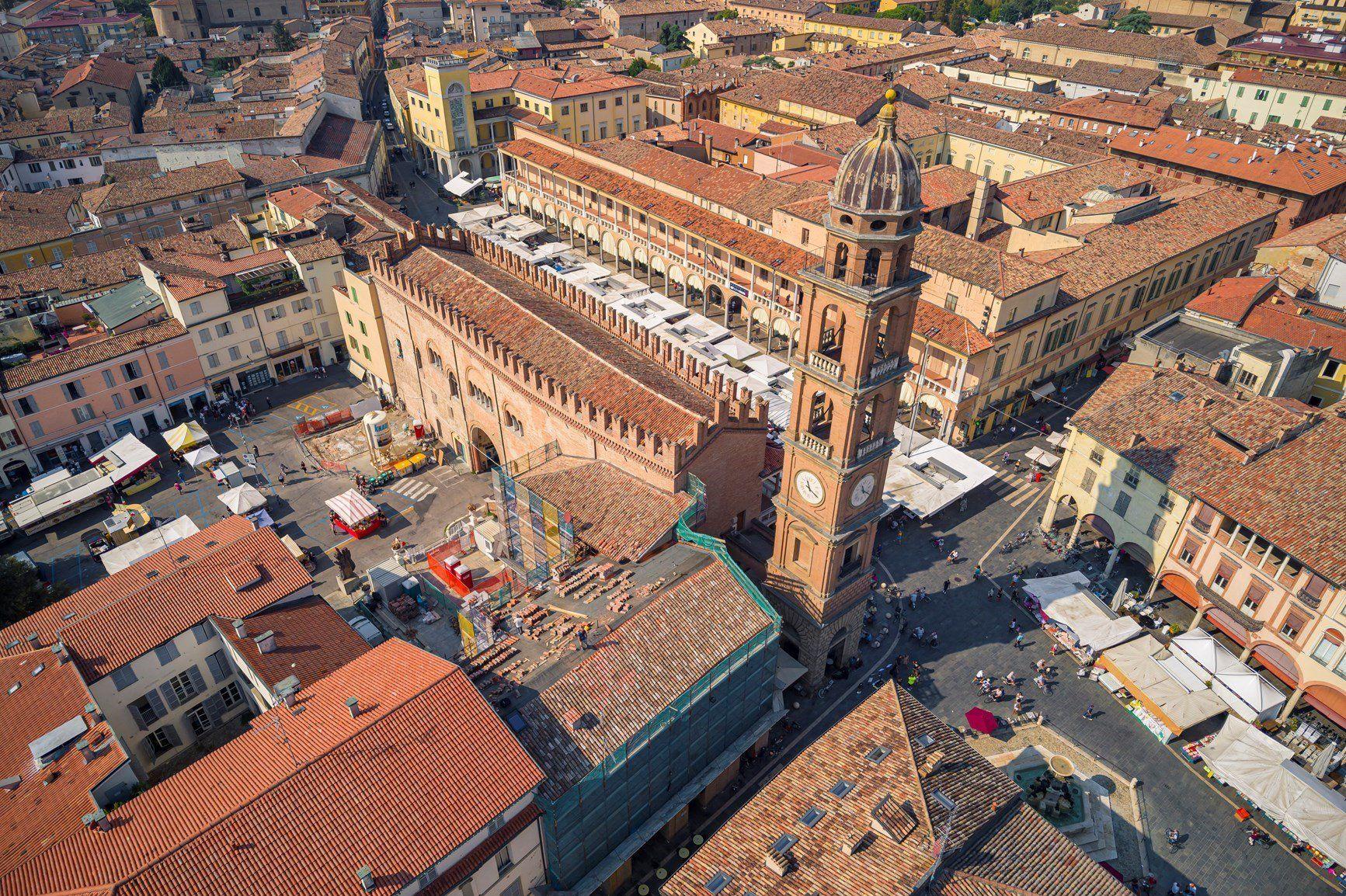 AERtetto per il Palazzo del Podestà di Faenza