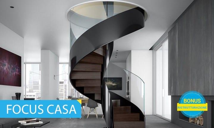 scala a chiocciola elicoidale in metallo verniciato VORTIKA©Officine Sandrini