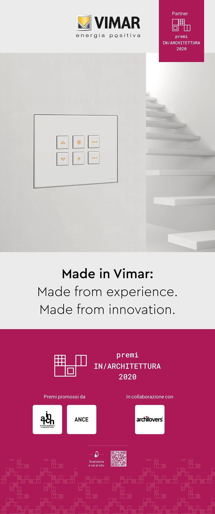 Il premio speciale Vimar In/Arch 2020