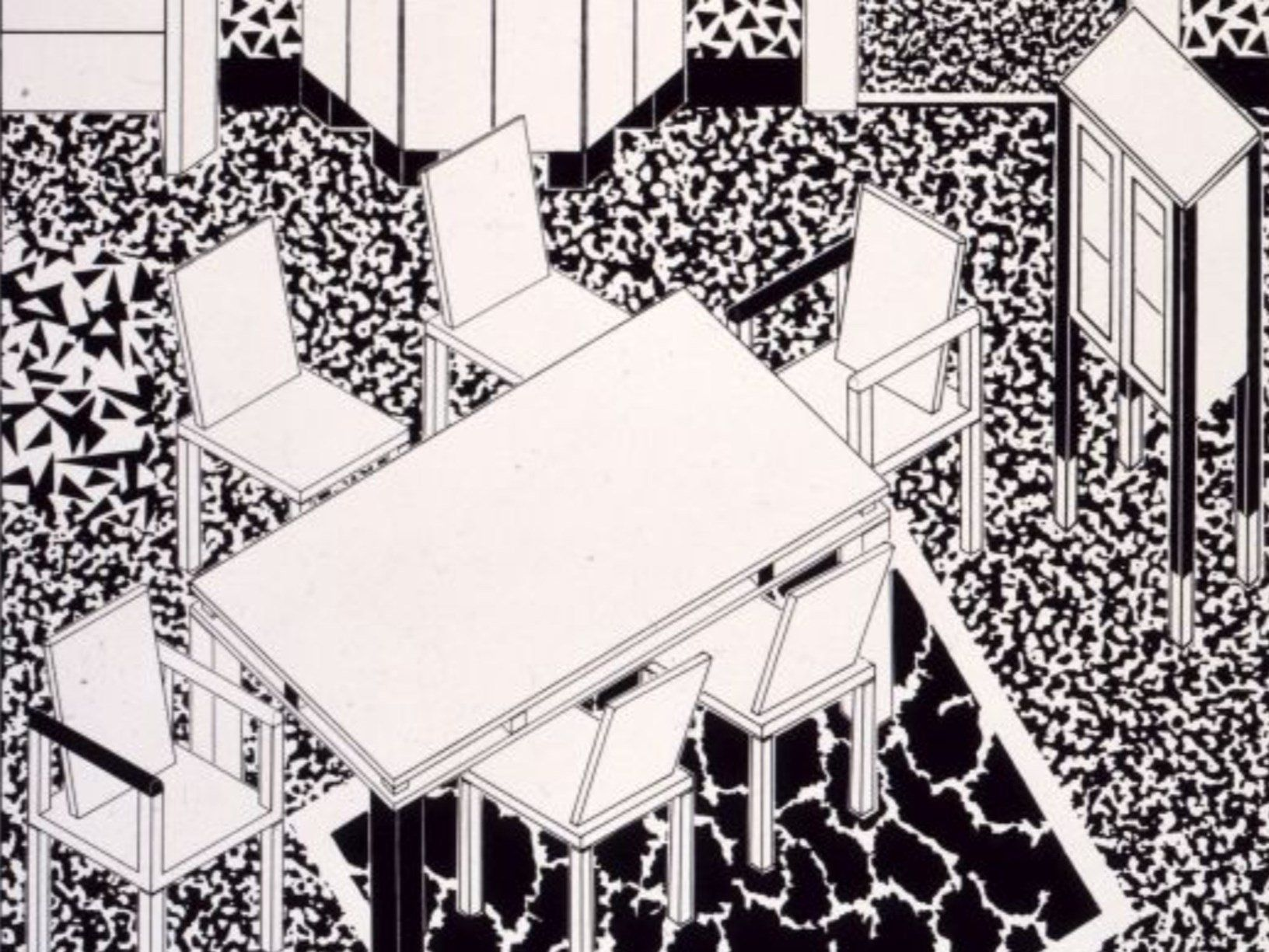 George Sowden, Drawing for Interior 2, 1983 © Vitra Design Museum