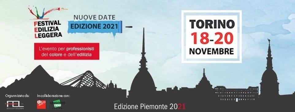 Il Festival dell'Edilizia Leggera si terrà a Torino dal 18 al 20 novembre